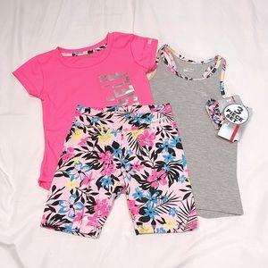Girls Active Wear 3-Piece Set